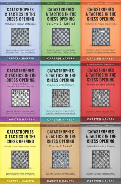 Catastrophes & Tactics in the Chess Opening - Volume 1 t/m 9