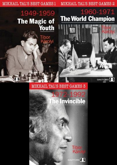Mikhail Tal's Best Games Volume 1 + 2 +3